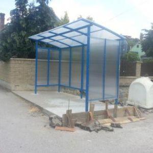 Stavebné úpravy autobusových zastávok - Sverepec